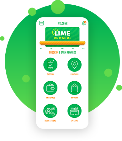 An image of the LIME Fresh Mexican Grill restaurant app